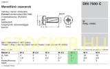 MENETNYOMÓ CSAVAR DFKH M04*06 DIN 7500C HG.  LEMEZCSAVAR
