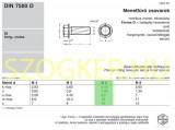 MENETNYOMÓ CSAVAR HLF M06*12 DIN 7500D HG.  LEMEZCSAVAR