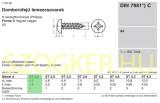 LEMEZCSAVAR DFKH D2.2*13 DIN 7981 A2 PH INOX  LEMEZCSAVAR