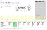 LEMEZCSAVAR DFKH D2.9*13 DIN 7981 A2 PH INOX  LEMEZCSAVAR