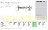 LEMEZCSAVAR DFKH D4.8*25 DIN 7981 A2 PH INOX  LEMEZCSAVAR