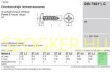 LEMEZCSAVAR DFKH D6.3*16 DIN 7981 A2 PH INOX  LEMEZCSAVAR